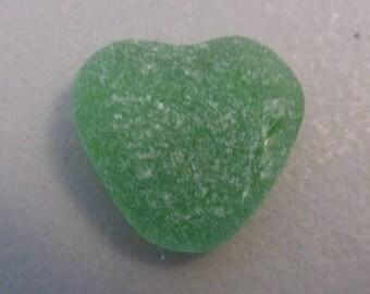 Heart Green Sea Glass Soft Green Seaglass, Genuine Beach Glass Wedding Gift Beach Decor Gift for Her Art Jewelry Supply Green Seaglass