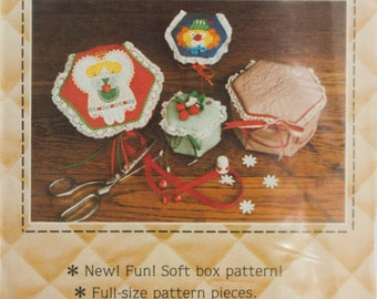 Vintage Patch Press 347B Sewing Pattern Soft Boxes II, Designed by Designed by Lanna Blumberg