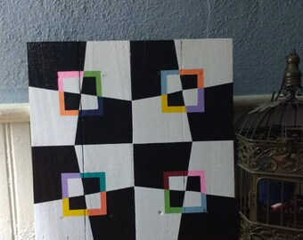 Barn Quilt - Pallet Wood Art - Mad Hatter