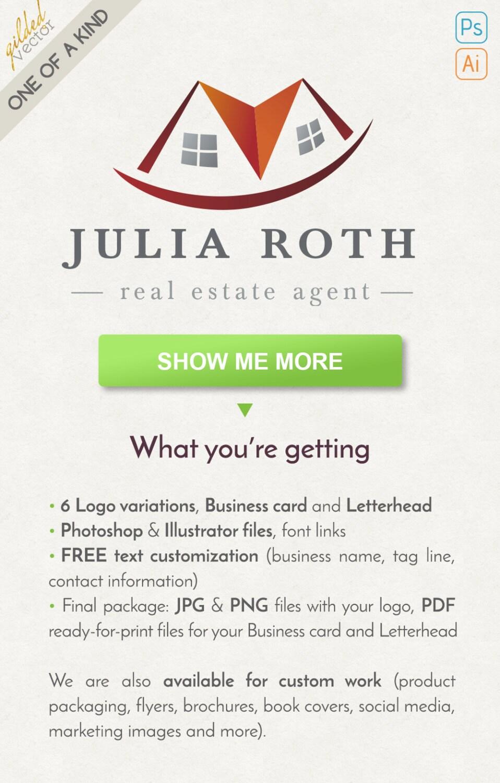 House Logo Rental Logo Realtor Logo Broker Logo Real