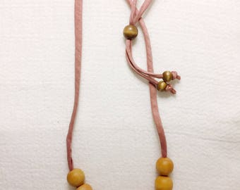 Adjustable Wood Teether Necklace | Teething Necklace for Mom