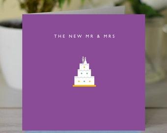 The New Mr & Mrs Wedding card