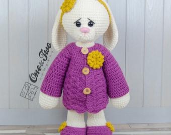 "Blossom the Big Bunny ""Big Hugs Series"" Amigurumi - PDF Crochet Pattern - Instant Download - Amigurumi Cuddy Stuff"