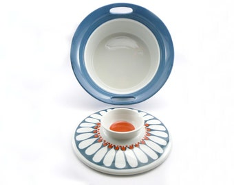 Vintage 1970s Figgjo Flint Turi Daisy Pattern Casserole Pot, Scandinavian Design, Scandinavian Homewares