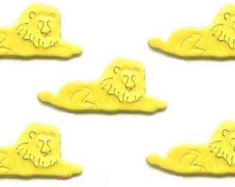 lion jungle 30 mm 8 screw fasteners Parisian creative cardmaking scrapbooking