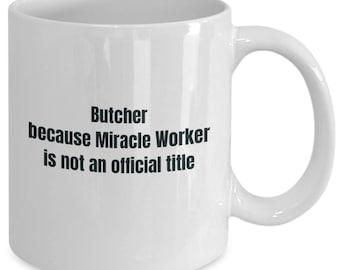 Butcher gifts coffee travel cup mug gift men women