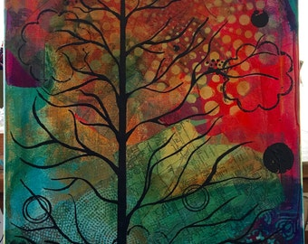 """16"""" x 20"""" Painting on Canvas - Tree in Solitude"""