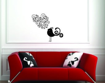 Singing Bird Vinyl Wall Decal