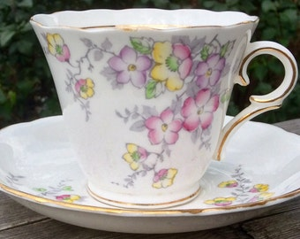Pretty In Pink-Colclough Teacup and Saucer
