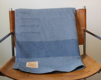 Vintage Blue Hudson's Bay Point Blanket