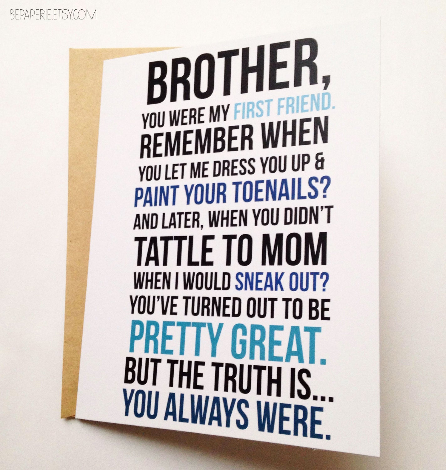 Brother card brother birthday card funny card card for zoom kristyandbryce Image collections