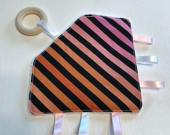Pink Stripes Crinkle Toy