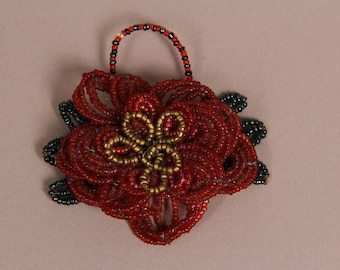 Vintage Beaded Flower Adornment