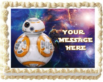 BB8 STAR WARS Image Edible cake topper party decoration