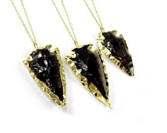 Native American Necklace, Statement Necklace, Big Bold Chunky Necklace, Raw Crystal Necklace, Rough Gemstone Necklace, Obsidian Necklace