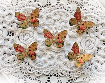 Reneabouquets Tiny Treasures Premium Paper Butterfly Set -  Secret Crush Butterflies