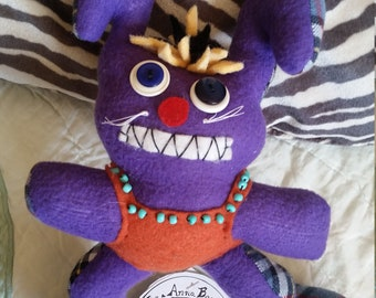 Anna Banana Dolls Handmade Bunny Rabbit Purple Crazy