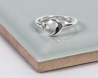 Sterling Silver Nights Sky Midi Ring