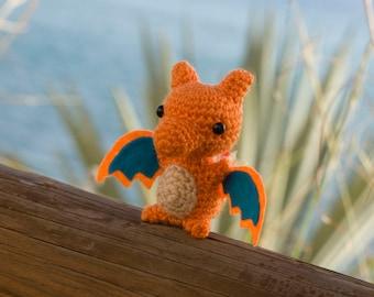 Charizard amigurumi - Charizard Crochet - Charizard handmade - Charizard Plush- Amigurumi Charizard - Amigurumi pokemon
