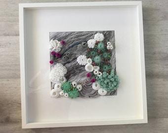 Handmade crochet coral reef