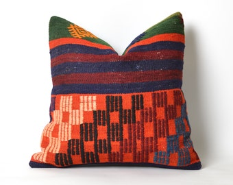 anatolian pillow, kilim pillow, decorative pillow, cushion cover, vintage pillow, home decor, turkish kilim pillow, turkish pillow