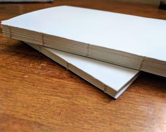 Handbound Tomoe River Journal - white paper