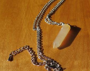 Brown (smokey) Quartz Crystal Pendant Necklace