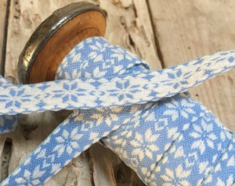 New Old Stock, Pretty French Vintage Double Sided Cotton Ribbon