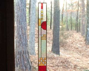 Awesome stained glass panel suncatcher home and garden art glass stained glass window