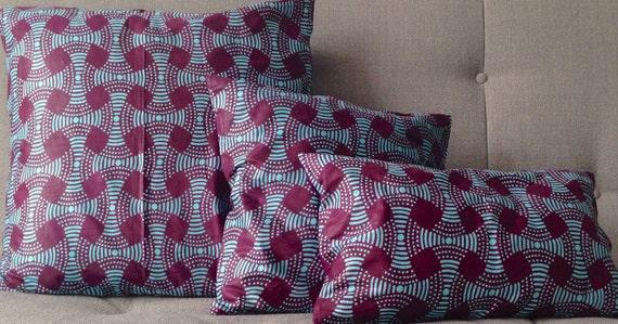 housses de coussin wax 50x30cm 45x45 cm 60x60 cm imprim. Black Bedroom Furniture Sets. Home Design Ideas