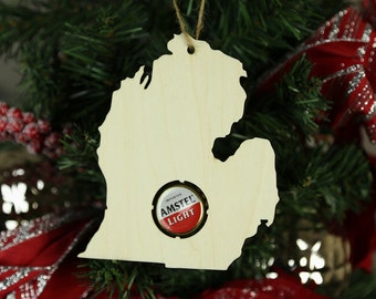 ALL STATES AVAILABLE! State Beer Cap Map Christmas Ornament Craft Beer Cap Collector - Bottle Cap Holder - Beer Cap Display