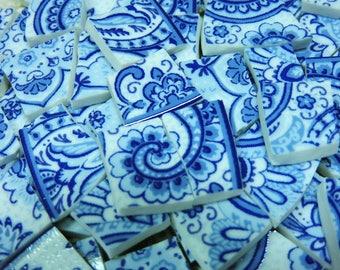 Mosaic Tiles - BLuE & WHiTE PAiSLeY - China Mosaic Tiles