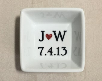 Personalized Ring Dish,Couple's Ring Dish, Jewelry Holder