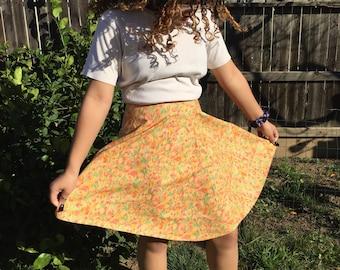 VINTAGE Springtime Tulip Circle Skirt S/M