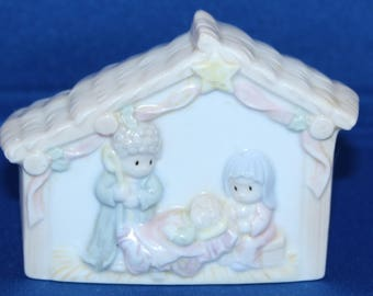Vintage  Nativity Porcelain Nightlight