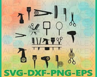 70% OFF, Hairdresser SVG, Hairstylist SVG, Hairdresser Monogram frames svg, cut files for Silhouette, cut files for Cricut Svg, Png,Eps,Dxf