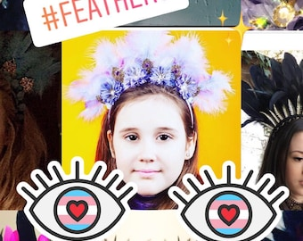 Fabulous Feather Festival Headpiece