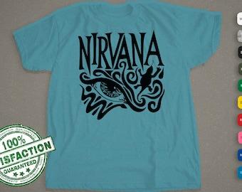 Nirvana T-Shirt |  1990s Show Flyer | Music Art | Kurt Cobain  | Band Shirt Men, Woman, & Kids