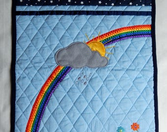 Rainbow quilted blanket for baby (AEC1)