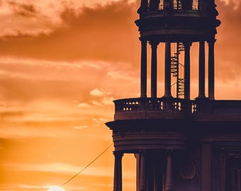 Staircase at Sunset - Photography Fine Art Print, Stairway, Architecture, Travel Photography, Cuban Art, Wanderlust Art, Silhouette Print