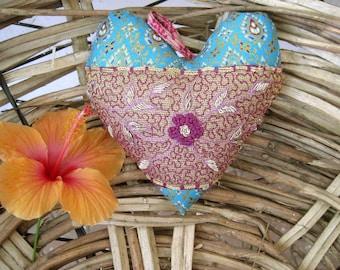Heart Cotton  Handembroidery Handmade Weddingheart Friendshipheart