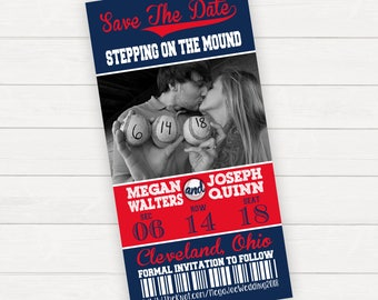 Save the date, Save the date template, Save the date cards, Save the date printable, Baseball save the date, Printable save the date