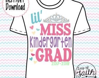 DIGITAL IMAGE: Lil Miss Kindergarten Grad INSTANT download