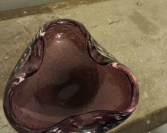 Murano glass bowl 60s glass bowl 60's