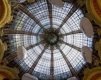 Galeries Lafayette Print Paris Shopping Mall Paris Decor Photograph France Print Wall Art Home Decor par175