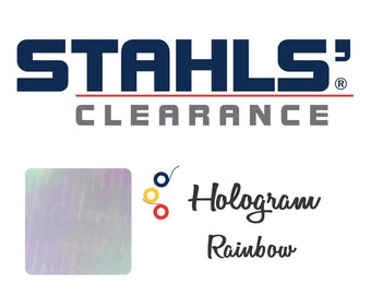 "7"" x 10 Yards - Stahls' Hologram - Craft Roll - Iron-on - Heat Transfer Vinyl - HTV - Rainbow"