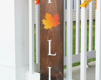 Outdoor Sign | Outdoor Wood Signs | Fall Sign | Vertical Fall Sign | Fall Decor |  Outdoor Decor | Custom Outdoor Sign - HD-38