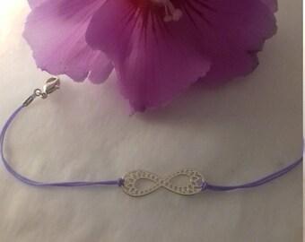 Purple infinity Friendship Bracelet