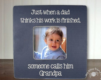 Grandpa Father's Day Gift, Grandpa Gift, Gifts for Grandpa, Grandparent Gift, Just When A Dad This FEATURED