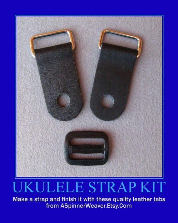 Ukulele strap kit do it yourself 1 inch wide leather tabs solutioingenieria Image collections